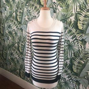 Banana Republic black and white striped sweater